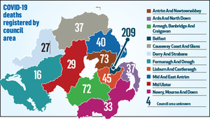 COVID-19 deaths registered by council area