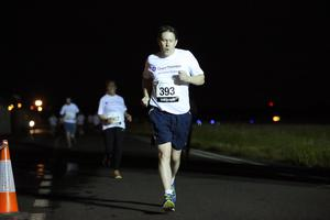 Press Eye - Belfast -  Northern Ireland - 24th June 2015 - Gareth Robinson takes part in the first ever Grant Thornton Runway Run at Belfast City Airport this evening. Picture by Kelvin Boyes / Press Eye.