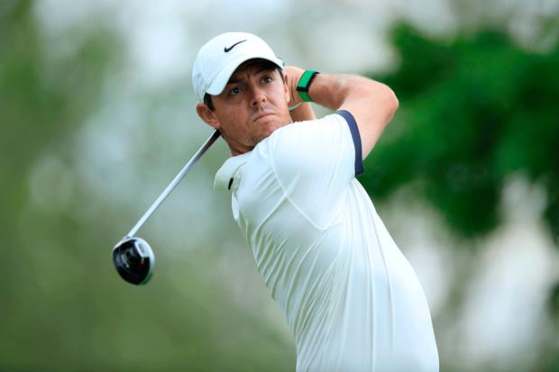 Early exit: Rory McIlroy on his way to missing the cut at the Memorial Tournament in Ohio last night