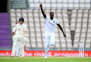 Jason Holder excelled with the ball at the Ageas Bowl (Mike Hewitt/NMC Pool/PA)