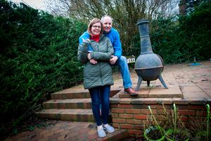 New start: Nigel and Jacqueline McGonigle at their home