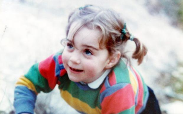 Kate Middleton, before scaling  to the heights of Baroness Carrickfergus and Duchess of Cambridge, pictured aged three on a family holiday in the Lake District.