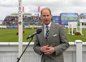 Earl of Wessex at Balmoral Show Day 1 at the new Balmoral Park site on the former Maze prison site. HRH Prince Edward is pictured at the official opening of the show. Photo by Simon Graham/Harrison Photography.