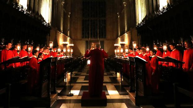 King's College Chapel said the service would go ahead this year but without a congregation (Chris Radburn/PA)