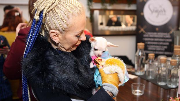 Mandatory Credit - Picture by Freddie Parkinson © Thursday 31 January 2019 Launch of Fashion Week 2019 at Panama Cafe 3 McClintock Street Belfast. Patience Bradley with her dog model Mary My Lovely