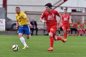 Centre of attention: Portadown's Peter McMahon