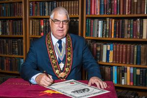 Sovereign Grand Master of the Royal Black Institution, Rev William Anderson.