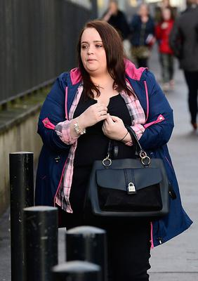Christine Connor pictured arriving at Belfast Court