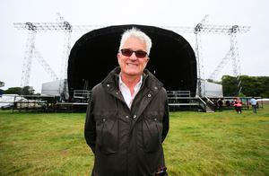 Organiser of the Electric Picnic festival Melvin Benn in front of the main stage during a press preview of the Electric Picnic festival in Stradbally, County Laois. Brian Lawless/PA Wire