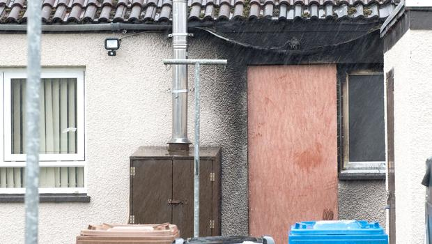 The house in Coolessan Walk in Limavady where there has been an arson attack at the back door of the bungalow. Credit: Martin McKeown