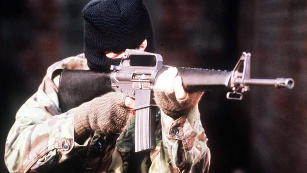 A sniper rifle and other weapons were recovered. Stock image.