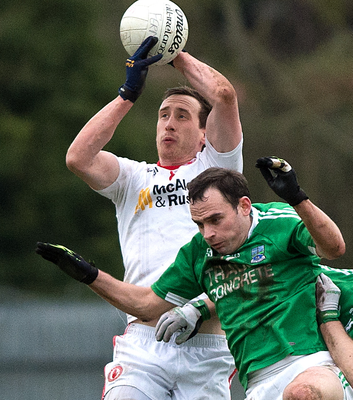 Back in action: Colm Cavanagh takes on the Ernesiders