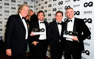 Left to right, James May, James Hammond, Rob Brydon and Steve Coogan during the GQ Men of the Year Awards 2017 held at the Tate Modern, London. PRESS ASSOCIATION Photo. Picture date: Tueday September 5th, 2017. Photo credit should read: Ian West/PA Wire