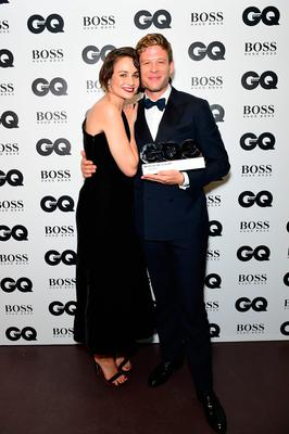 James Norton with his Breakthrough Actor award poses with Tuppence Middleton during the GQ Men of the Year Awards 2017 held at the Tate Modern, London. PRESS ASSOCIATION Photo. Picture date: Tueday September 5th, 2017. Photo credit should read: Ian West/PA Wire