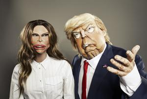 Melania Trump and US president Donald Trump in puppet form for the new series of Spitting Image (Avalon/BritBox/Mark Harrison)