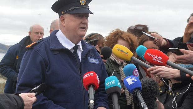 Garda Superintendent Colm Nevin speaks to the media.  Picture Colm Lenaghan/  Pacemaker