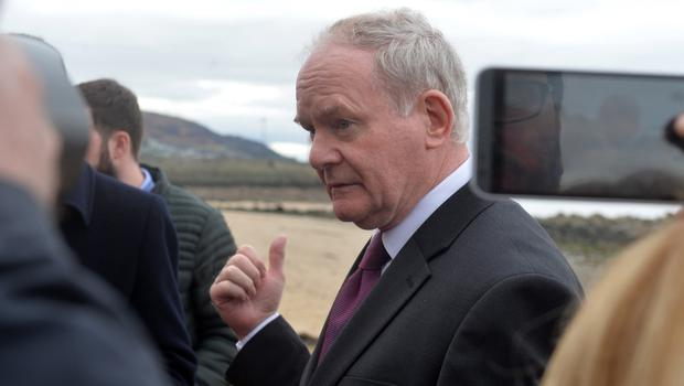 Martin McGuinness at the pier in Buncrana Co Donegal. Picture Colm Lenaghan/  Pacemaker
