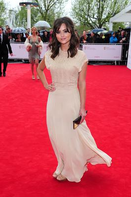 Jenna-Louise Coleman arriving for the 2013 Arqiva British Academy Television Awards at the Royal Festival Hall, London. PRESS ASSOCIATION Photo. Picture date: Sunday May 12, 2013. See PA story SHOWBIZ Bafta. Photo credit should read: Ian West/PA Wire