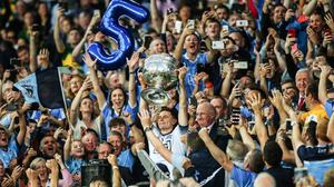 ALL CHANGE: The battle for Sam Maguire could soon be contested in November every year