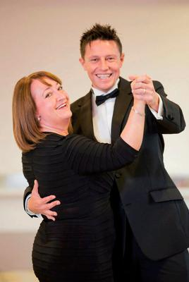 Leading man: Stephen Clements taking part in The Royal Does Strictly with Brenda Creaney of the Belfast Trust in 2012