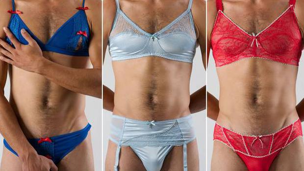 Lace, satin, briefs, bras and G-strings, sexy underwear for men are trending. Apparently.