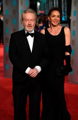 Ridley Scott and Giannina Facio attend the EE British Academy Film Awards at the Royal Opera House on February 14, 2016 in London. (Photo by Ian Gavan/Getty Images)