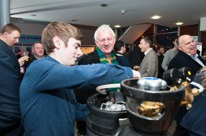 The Brewbot keg in action at the Friday Night Mashup in Belfast