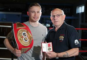 Devastating loss: Carl Frampton with his coach and mentor Billy McKee, who has sadly passed away