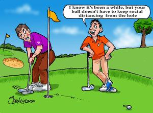 Golfers could have been forgiven for showing a few signs of rust...