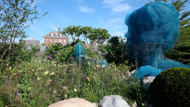 The Myeloma UK garden at the RHS Chelsea Flower Show at the Royal Hospital Chelsea, London. PRESS ASSOCIATION Photo. Issue date: Tuesday May 22, 2018. Photo credit should read: Jonathan Brady/PA Wire