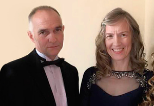 Alistair Sloss with his wife Roberta
