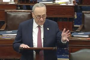 Senate majority Leader Chuck Schumer said January 6 would live on as a 'day of infamy' (AP)