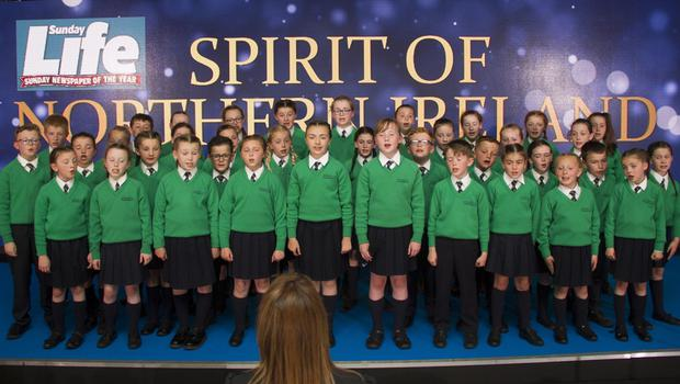 Sunday Life  Spirit Of Northern Ireland Awards 2017 St Patrick's Junior Choir Drumgreenagh from Britain's Got Talent at the Culoden Hotel.  Picture Colm O'Reilly Sunday Life Spirit Of Northern Ireland Awards 16-06-2017