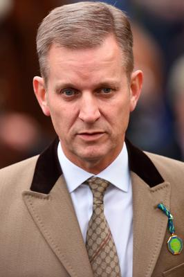 Jeremy Kyle on Ladies Day during the Cheltenham Festival at Cheltenham Racecourse. PRESS ASSOCIATION Photo. Picture date: Wednesday March 11, 2015. See PA story RACING Cheltenham. Picture credit should read: Joe Giddens/PA Wire. RESTRICTIONS: Editorial Use only, commercial use is subject to prior permission from The Jockey Club/Cheltenham Racecourse. Call +44 (0)1158 447447 for further information.