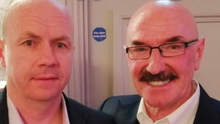 Liam Beckett with Peter Canavan at last week's charity fundraiser