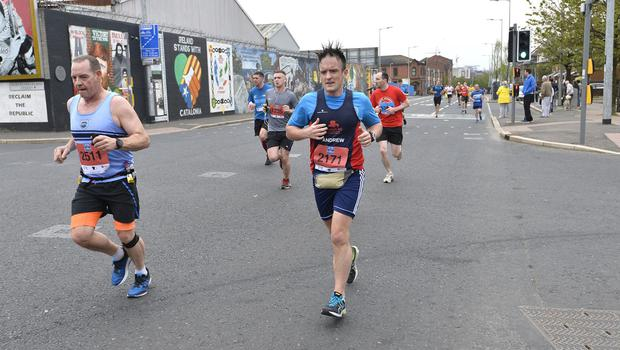 7th May 2018 37th Deep RiverRock Belfast City Marathon  Andrew MvcKinstry pictured at the marathon  Mandatory Credit ©Presseye/Stephen Hamilton