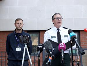 Superintendent Muir Clark gave an update to media in relation to missing teenager Noah Donohoe today at Musgrave Police Station. Credit: Pacemaker Press