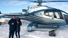 Jay Cartmill on a helicopter flight to the Northern Lights and on holiday.