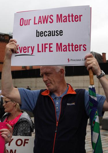 Abortion protest in Belfast. Mandatory Credit - Picture by Freddie Parkinson/Press Eye © Thursday 31 May 2018