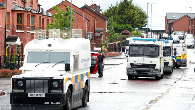 Police and ATO at the scene of a security alert in the Roseleigh Street area of north Belfast on June 19th 2019 (Photo by Kevin Scott for Belfast Telegraph)