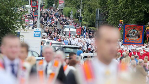 Belfast's Orange Order annual 12th of July demonstration makes its way up the Lisburn Road (2015) Picture by Jonathan Porter/Press Eye