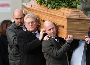 Pacemaker Press  14/1/2019 Family and Friends   during the Funeral of Dr Ian Adamson at Clonlig Presbyterian Church on Monday. A politician, medical doctor and historian, Dr Adamson served as Lord Mayor of Belfast in 1996/7, high sheriff in 2011 and was an Assembly member for the constituency of East Belfast from 1998 to 2003.  Known for his passion for culture, he founded the Ulster-Scots Language Society in 1992 and also spoke a number of other languages, including Irish.  Pic Colm Lenaghan/ Pacemaker