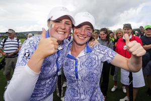 Olivia (left) and Leona Maguire are well used to being team-mates in amateur competition but Mehaffey is hoping they can be LPGA Tour playing partners in the not too distant future.