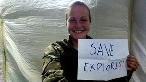 Save Exploris campaigners: Carole Smith, Afghanistan. Image source: Twitter