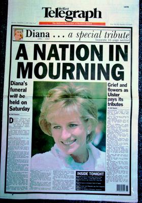 Belfast Telegraph:Page One/Princess Diana. 1.9.1997
