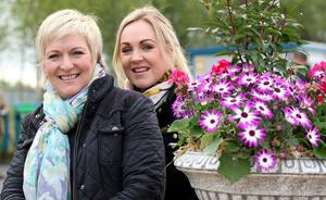 Caroline  Nethery (left) and Leeann Sheerin From Omagh enjoying the colour of the Balmoral Show at the Maze/Longkesh  Picture by  Brian Little/Presseye