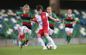 Former Linfield captain Kirsty McGuinness, who has joined Sion Swifts.