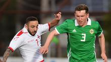 Bobby Burns in action for Northern Ireland U21s last year.