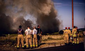 Firefighters battle a major gorse fire on the outskirts of the Docks in Belfast on May 31st 2020 (Photo by Kevin Scott for Belfast Telegraph)