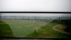 SHANKSVILLE, PA- SEPTEMBER 10:The view at the visitor center at the Flight 93 National Memorial on September 10, 2015 in Shanksville, Pennsylvania. The newly opened $26 million visitor center complex was dedicated in honor of the victims of Flight 93 on the evening of the 14th anniversary of the 9/11 attacks. (Photo by Jeff Swensen/Getty Images)